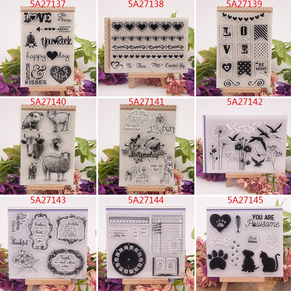 Haayward – Clear Stamps for Cards Making Sheets Scrapbook Rubber Silicone for Dog Cat DIY Scrapbooking Seal Photo Album Wish Decorative Kits by Haayward (Image #5)