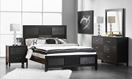 Excellent Amazon Com 4Pc King Size Bedroom Set With Wood Grain In Download Free Architecture Designs Photstoregrimeyleaguecom