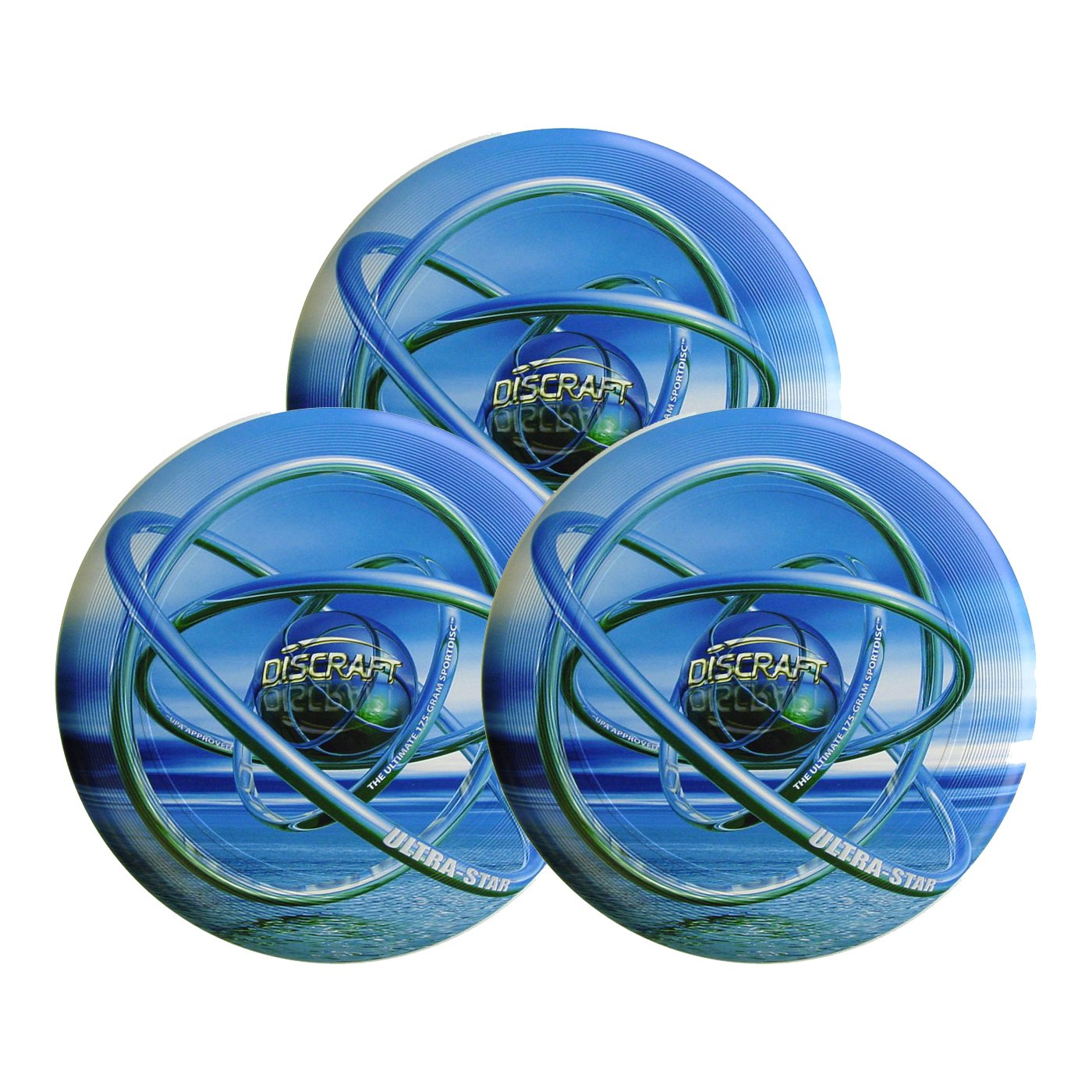 Discraft SuperColor Ultra-Star 175g Ultimate Sportdisc Blue Orb (3 Pack) by Discraft