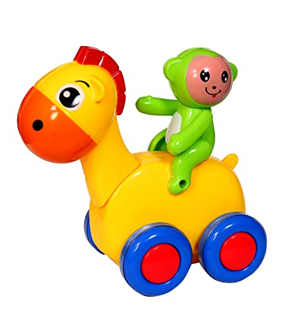 Buy Kidshappy Digger The Horse Toy 8 Month To 24 Month Yellow