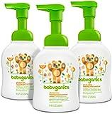 BabyGanics 不含*精泡沫洗手液,不含香料,8.45-fluid 盎司奶瓶,包装可能不同 柑橘 8.45盎司(3包装) 25.35