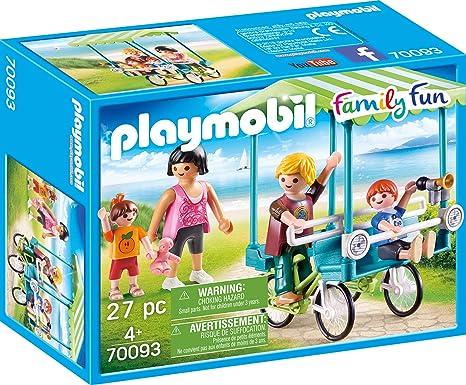 Playmobil 70093 Family Fun Familias de Bicicleta