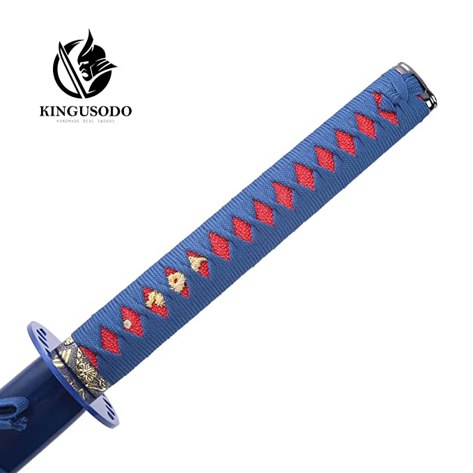 Amazon.com: KINGUSODO Espada Ninja, Real hecha a mano ...