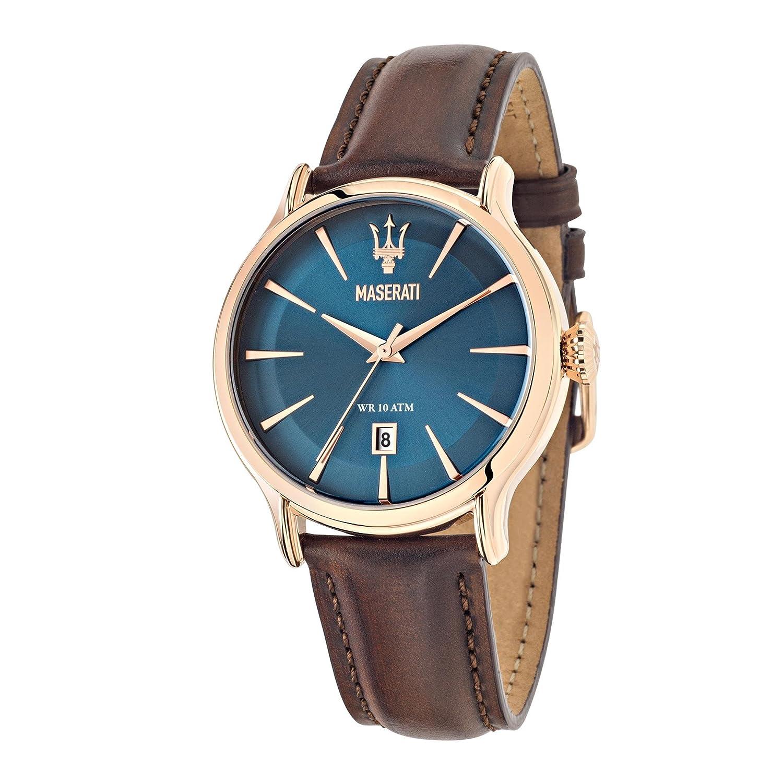 Maserati Reloj Analógico de Cuarzo para Hombre con Correa de Cuero – R8851118001