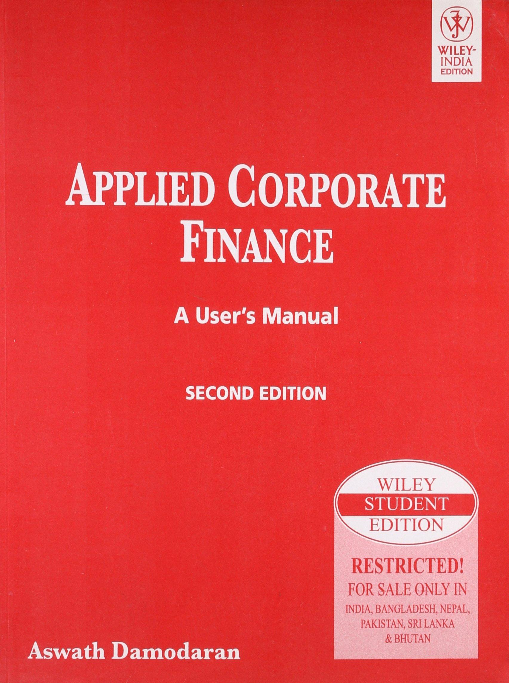 amazon com applied corporate finance a user s manual 2nd ed rh amazon com
