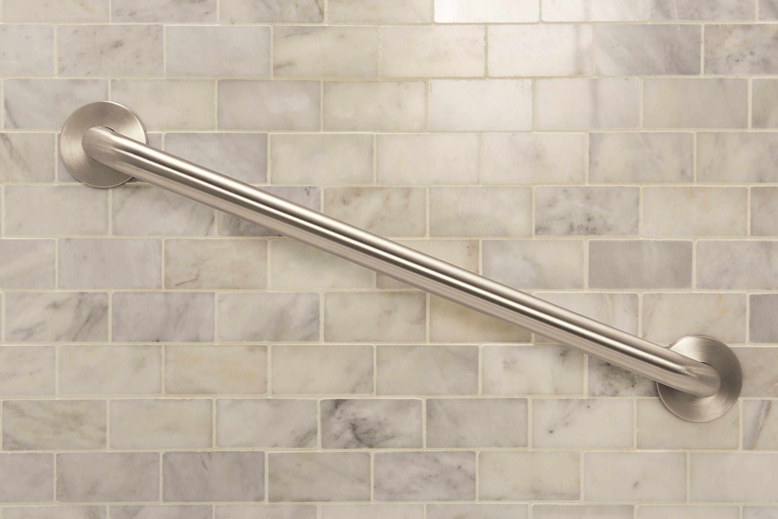 Moen R8718D3GBN 18-Inch Designer Bathroom Grab Bar, Brushed Nickel by Moen (Image #3)