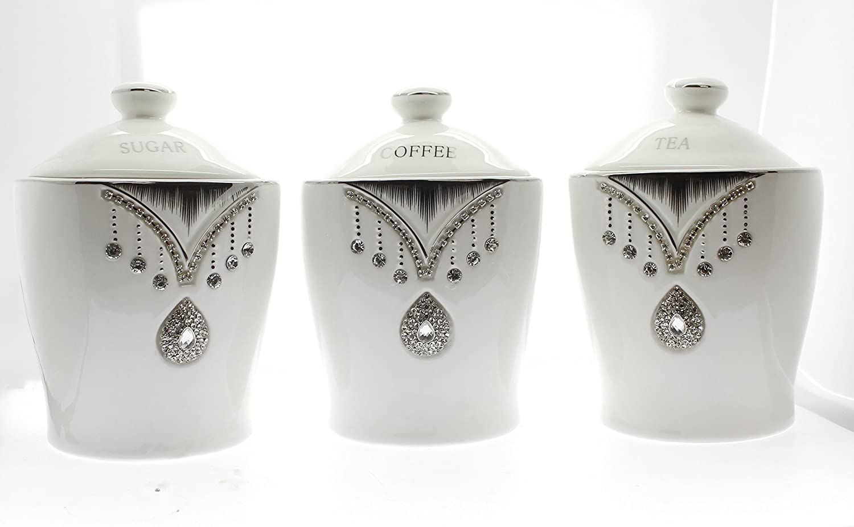 Interior Design Ideas Bargains Galore Amazon Coffee Tea Sugar Ceramic Jars