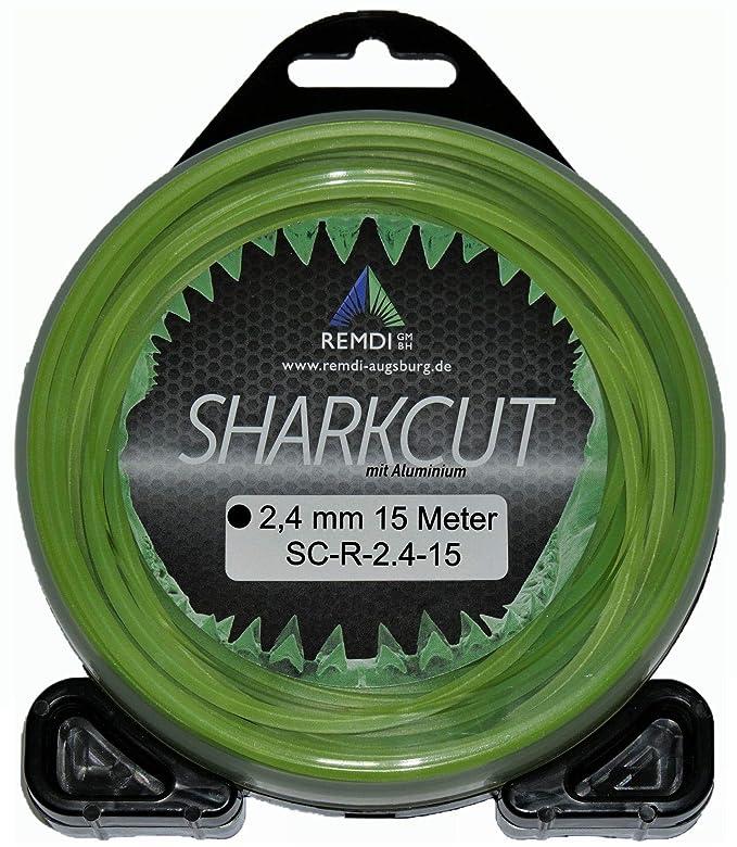 Sharkcut - Hilo de nailon para cortacésped (aluminio, 2,4 mm ...