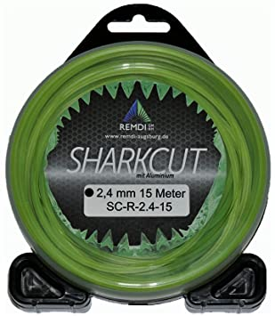 Sharkcut - Hilo de nailon para cortacésped (aluminio, 2,4 mm ...