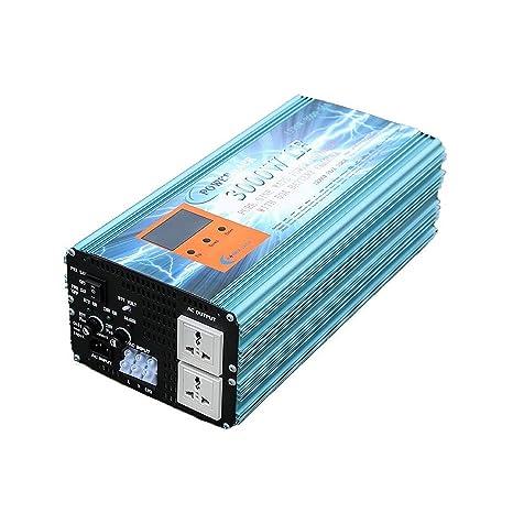 Inverter 3000w Inversor Onda Pura Convertidor 12v to AC 220V+LCD+Cargador 50Amp