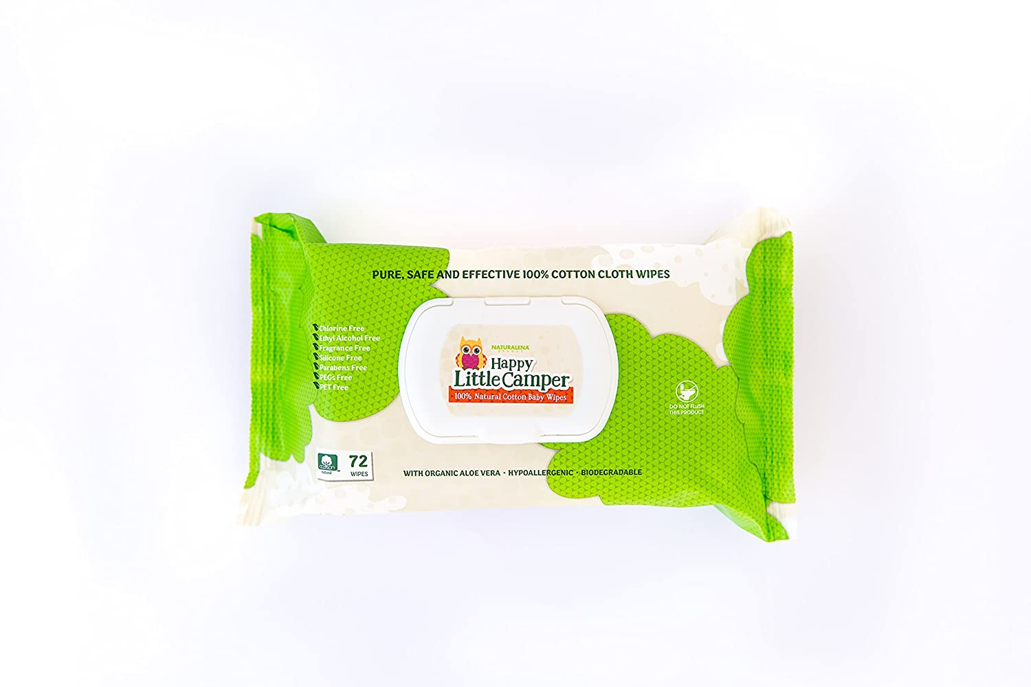 Amazon.com: Happy Little Camper Baby Wipes, Natural, All-Cotton with Organic  Aloe, Sensitive Skin, 72 Count by Happy Little Camper: Health & Personal  Care