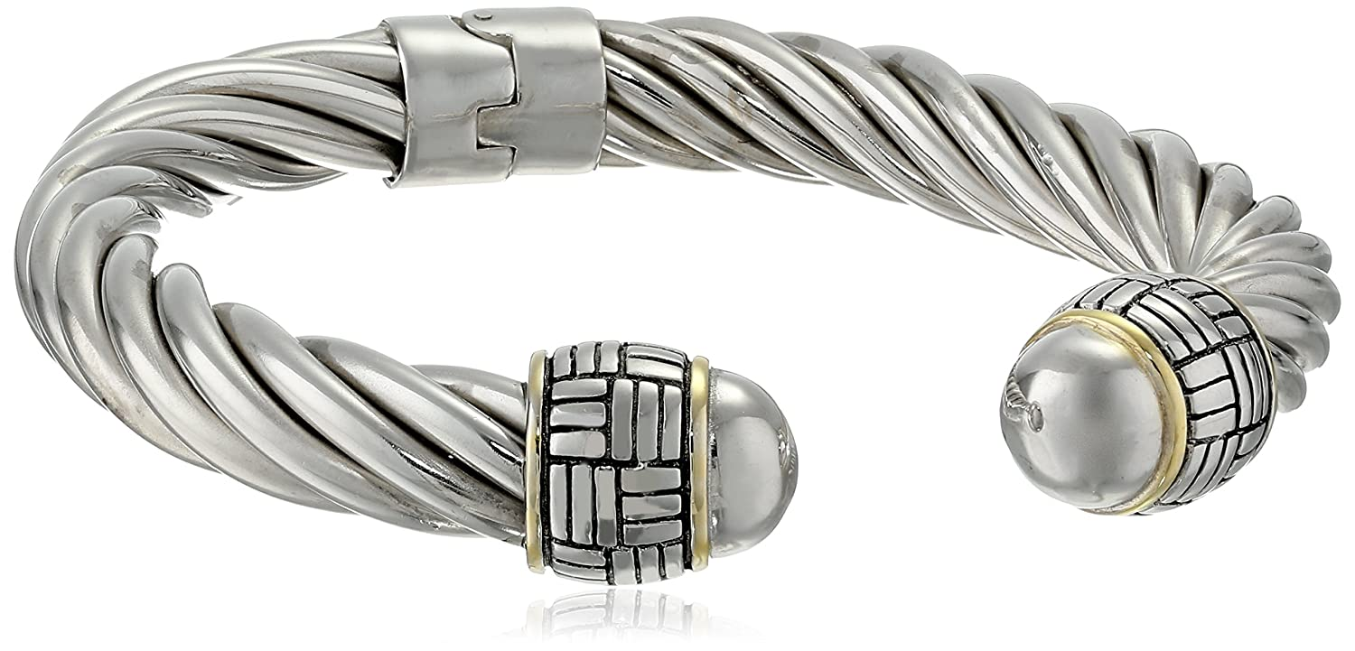 sterling yellow cape bangles bracelets cod single silver bead and in bangle bracelet with gold
