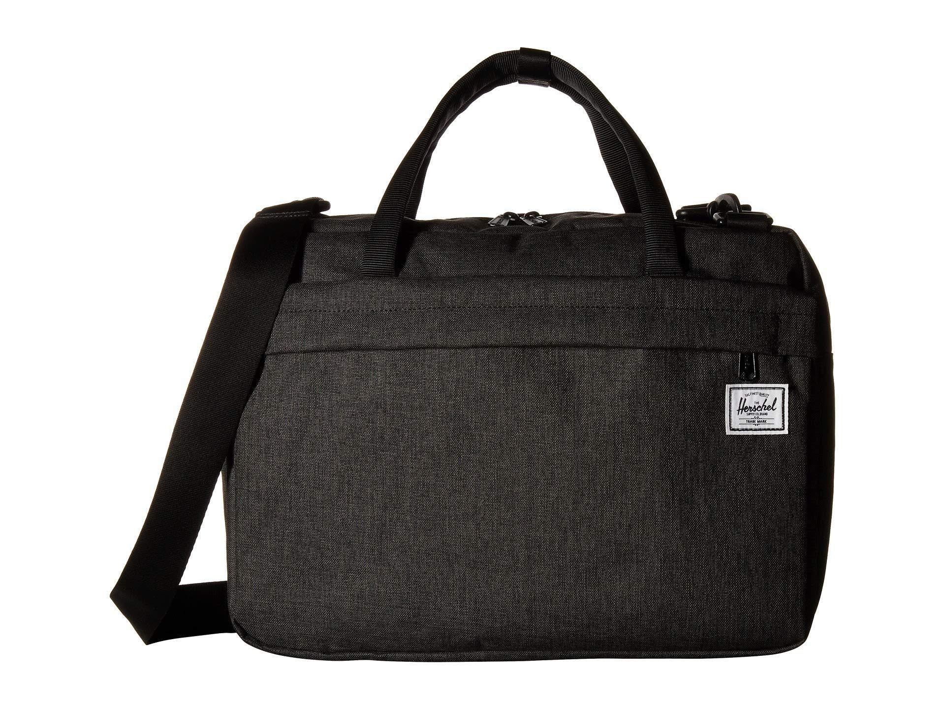 Herschel Gibson Laptop Messenger Bag Black Crosshatch One Size