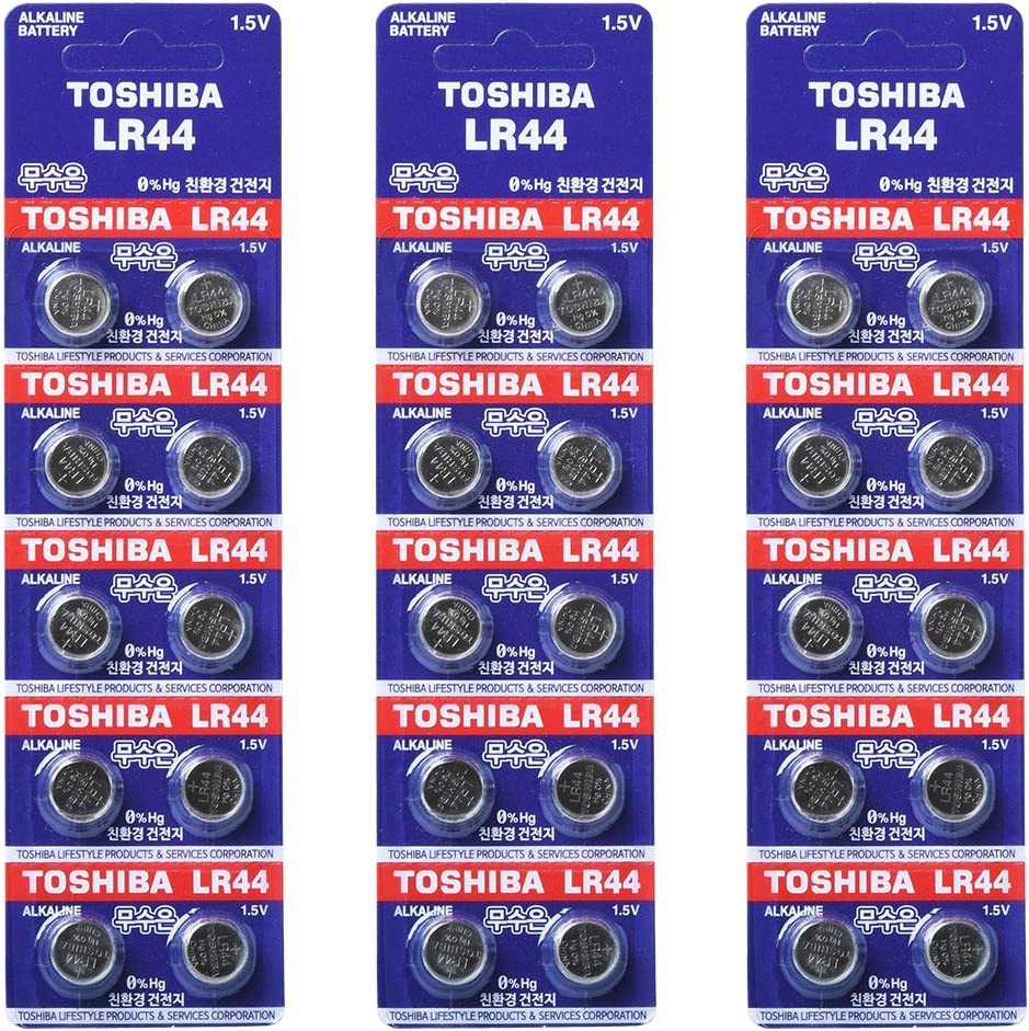 =30 Made in Japan Toshiba Lr44 Lrv08 12v Alkaline Battery 3pack X 10pc