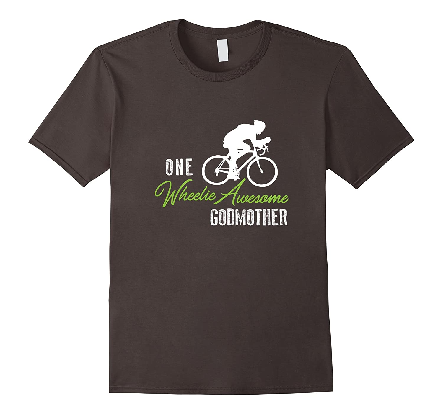 Wheelie Awesome Godmother Shirt, Funny Bike Cute Cycling