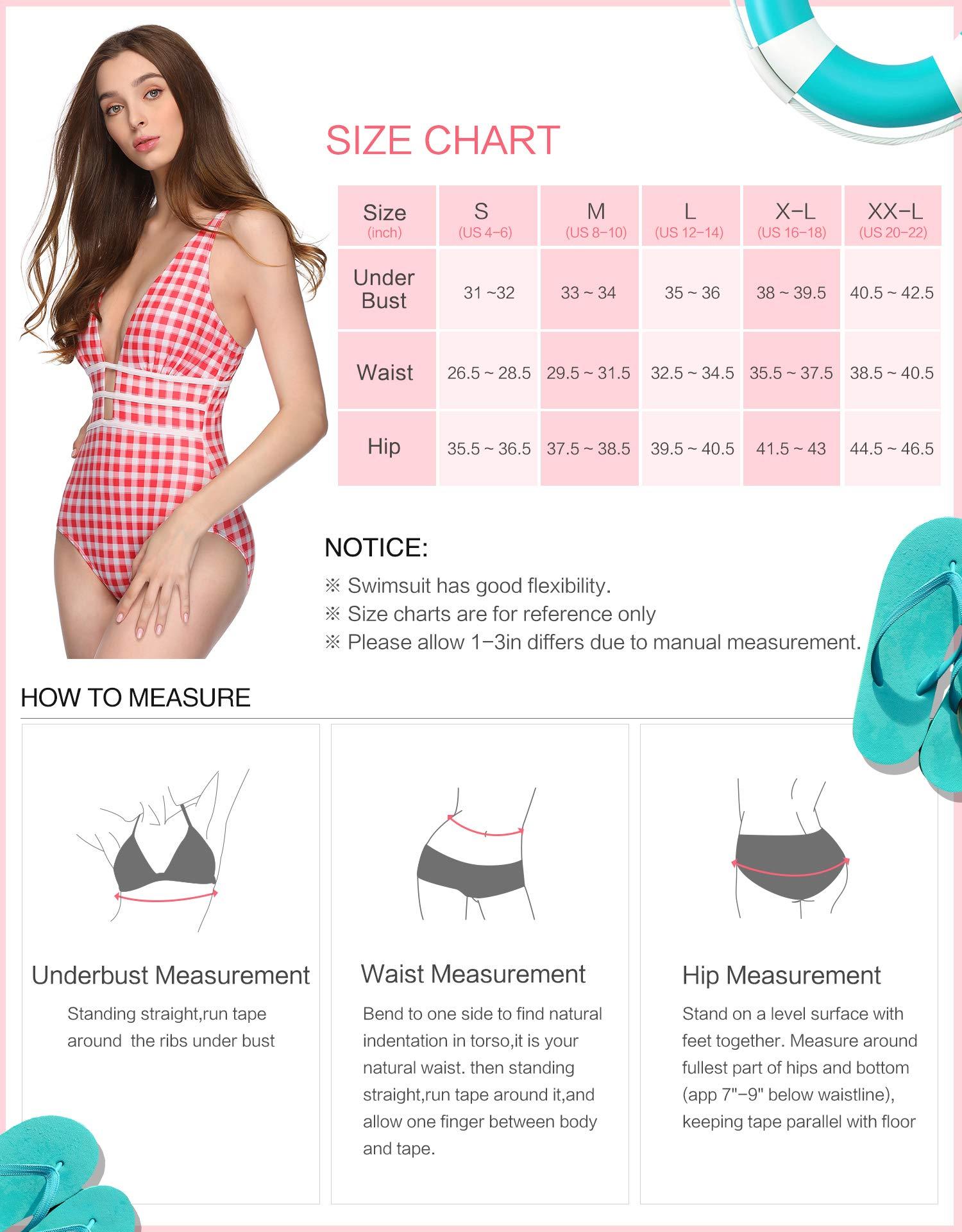 Verano Playa Swimsuit Women Sexy One Piece Swimwear Deep Plunge High Waist Bathing Suit Red Grid