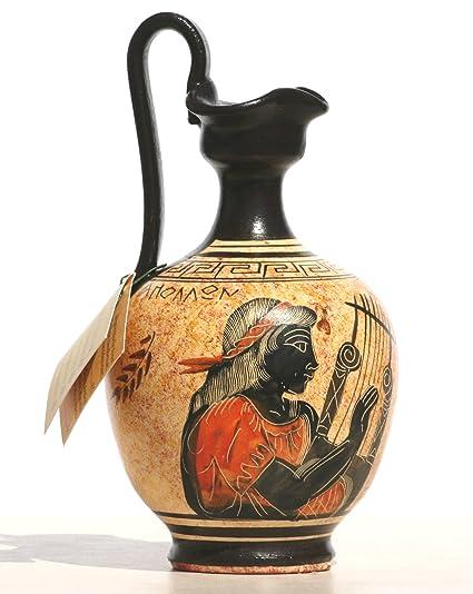Amazon Greek Black Figure Ceramic Vase Pot Pottery Painting