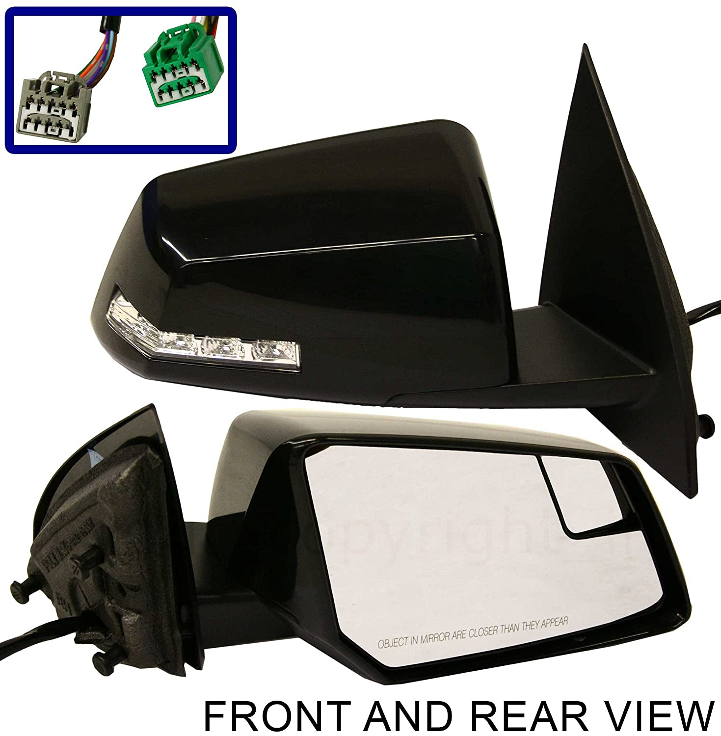 HEATED POWER CHEVROLET TRAVERSE 09-12 SIDE MIRROR RIGHT PASSENGER POWER FOLD US Auto Parts