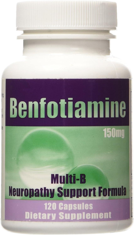 Benfotiamine Multi-Vitamin B Formula 150 Milligrams 120 Capsules