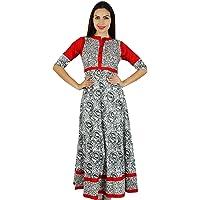 Bimba Vrouwen Classy Anarkali Katoen Kurti Indiase Etnische Designer Kleding Kurta Blouse 3/4 Mouw