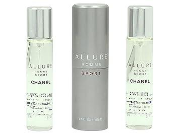 f944bf60919 Chanel Allure Homme Sport Eau de Toilette Extreme Set Vaporisateur Spray 20  ml Refill