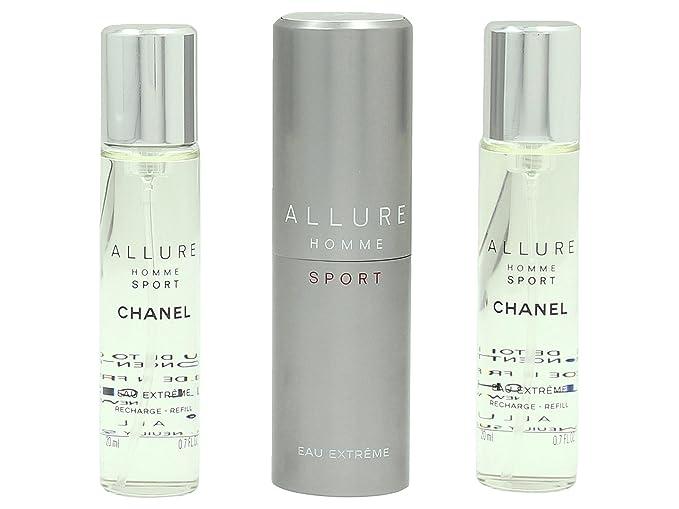 5a0d16f93b1 Chanel Allure Homme Sport Eau de Toilette Extreme Set Vaporisateur Spray 20  ml Refill 20 ml for Men  Amazon.co.uk  Beauty
