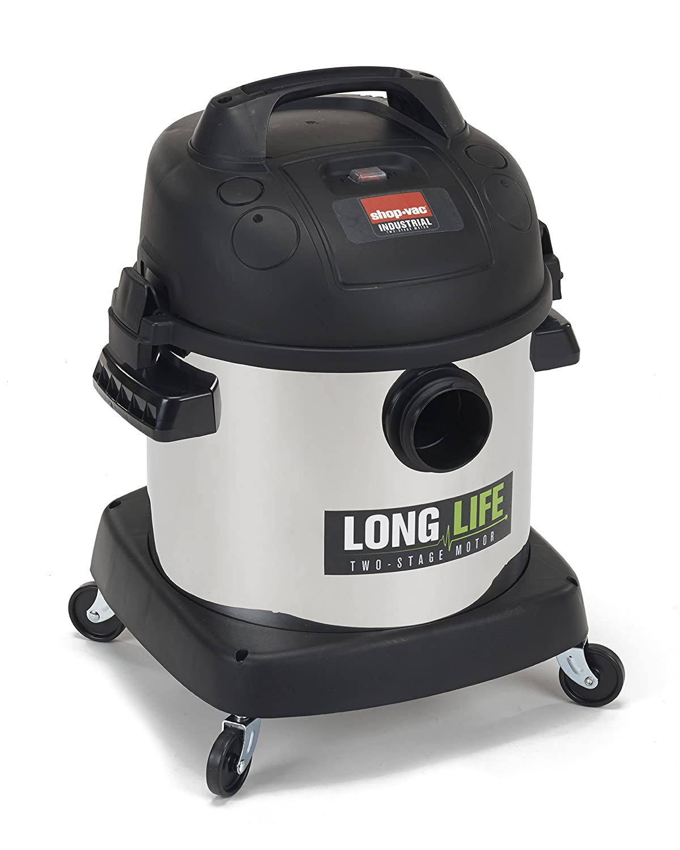 Shop-Vac 9272410 2.0 Peak HP Long Life Stainless Steel Wet Dry Vacuum, 4-Gallon