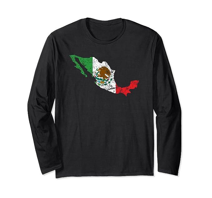 Unisex Camisa Mexicana con Mapa de Mexico | Mexican Map Shirt Small Black