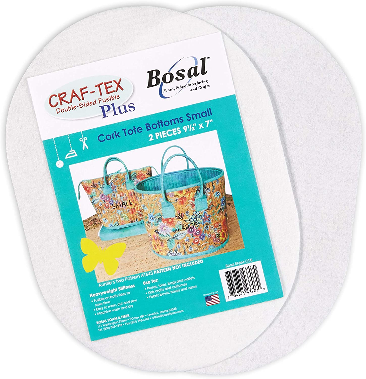 White Bosal Craf-Tex Plus Stiff Non-Woven Double-Sided Fusible 7 Stabilizer