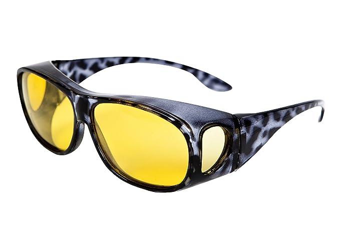 Gafas de visión nocturna polarizadas para conducción nocturna, diseñadas para usarse sobre las gafas graduadas de Opticaid: Amazon.es: Ropa y accesorios