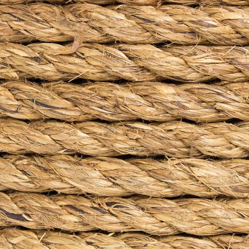 3//4 inch 1 inch 5//16 inch 5//8 inch 3//8 inch Twisted Manila Hemp Rope in 1//4 inch 1//2 inch and 2 inch Widths /& Several Lengths West Coast Paracord
