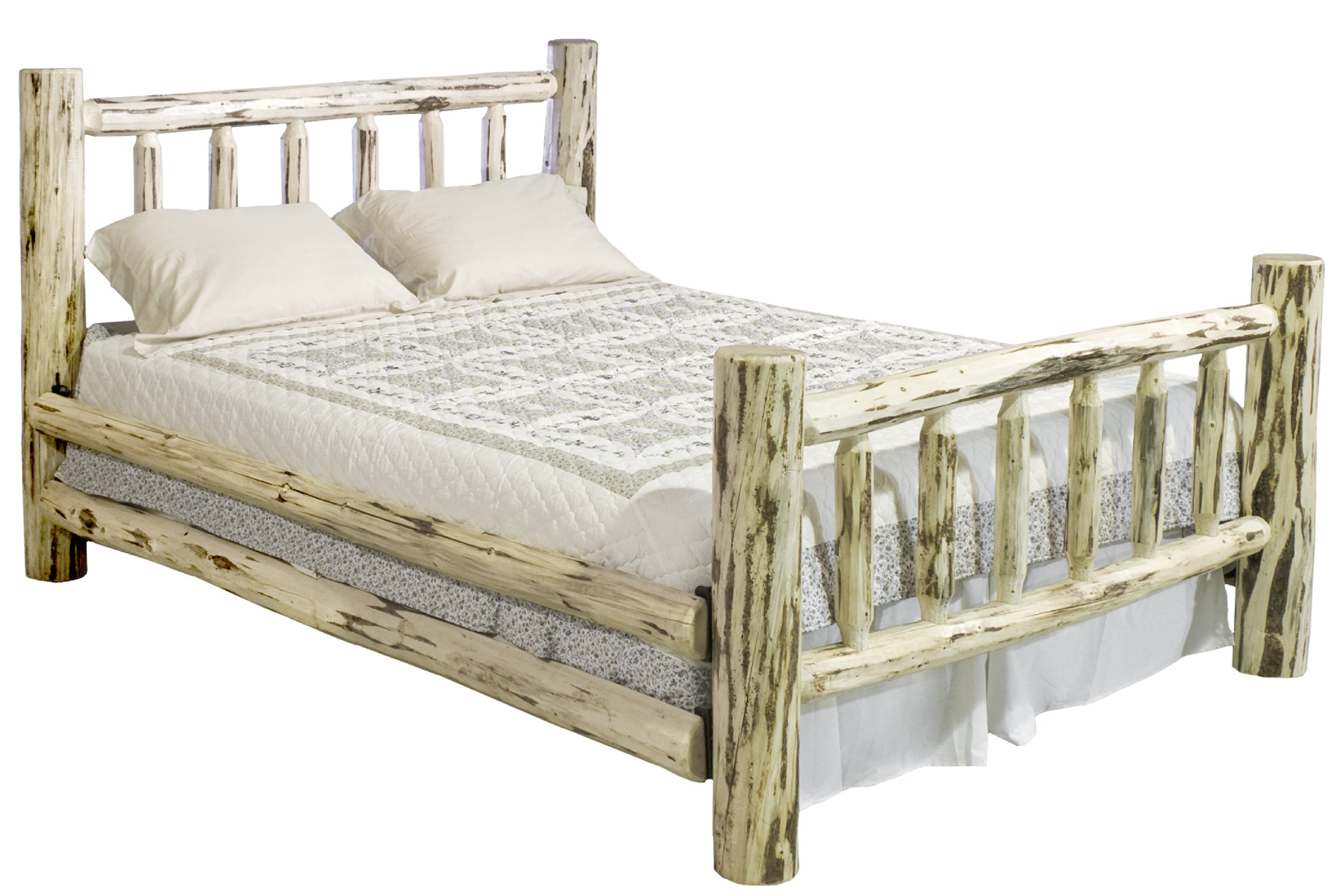 Montana Woodworks Montana Collection Bed, King, Clear Lacquer Finish by Montana Woodworks