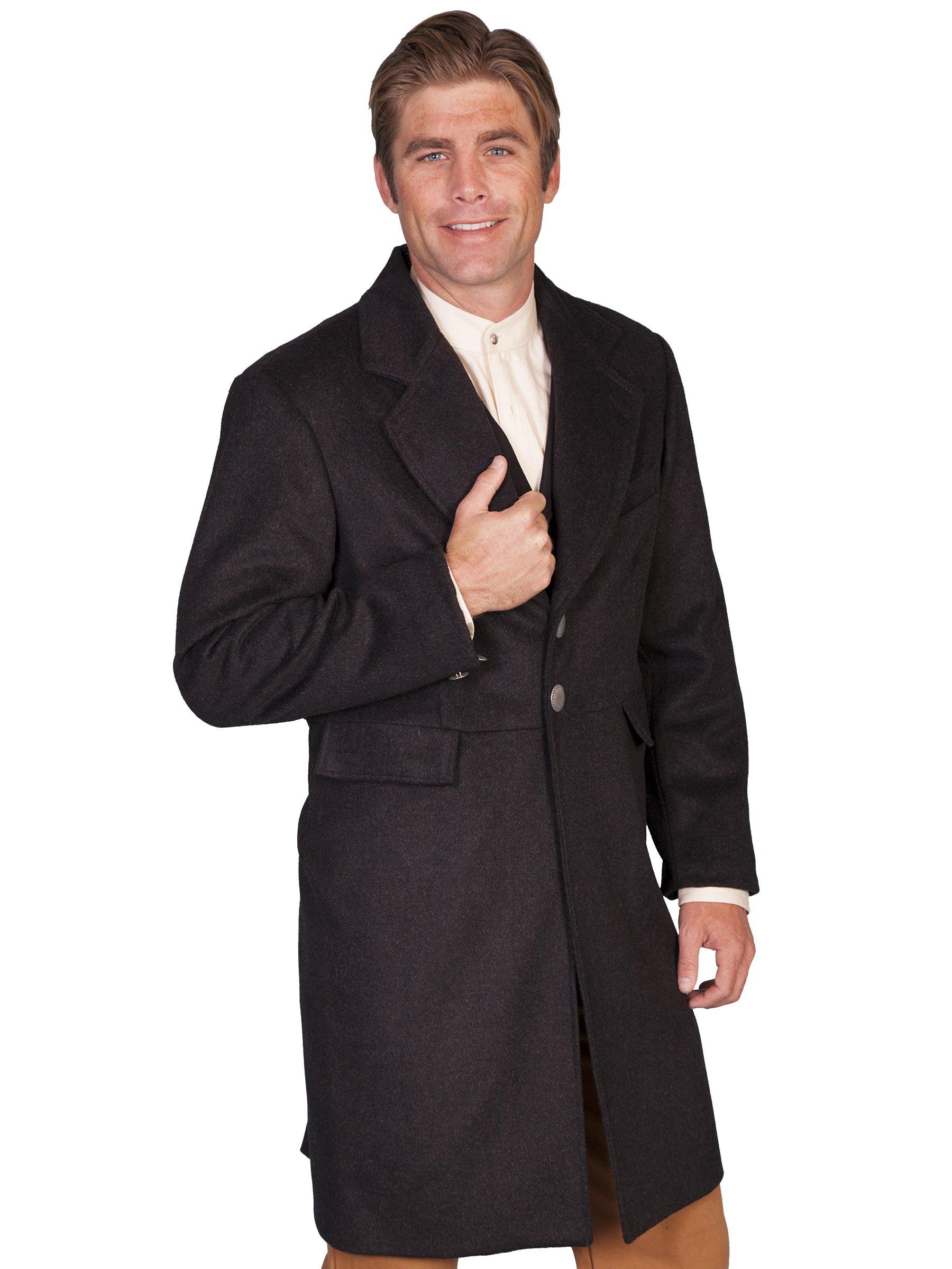 WahMaker by Scully Men's Old West Wool Blend Frock Coat Black 50