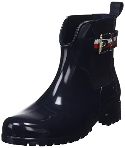 564bdc57d429 Tommy Hilfiger Damen Corporate Belt RAIN Boot Gummistiefel, Blau (Midnight  403), 36
