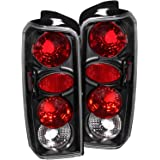 1997-2001 JEEP CHEROKEE REAR BRAKE LAMPS BLACK TAIL LIGHTS + DRL LED FOG RUNNING