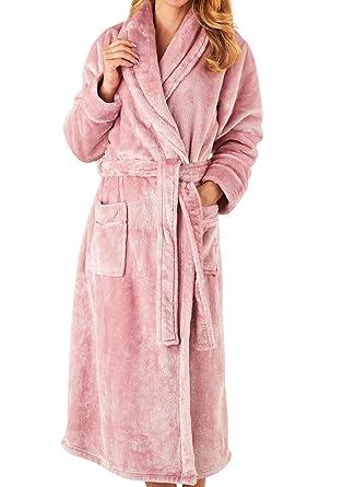 Slenderella Ladies Super Soft Thick Fleece Dressing Gown Luxury ...