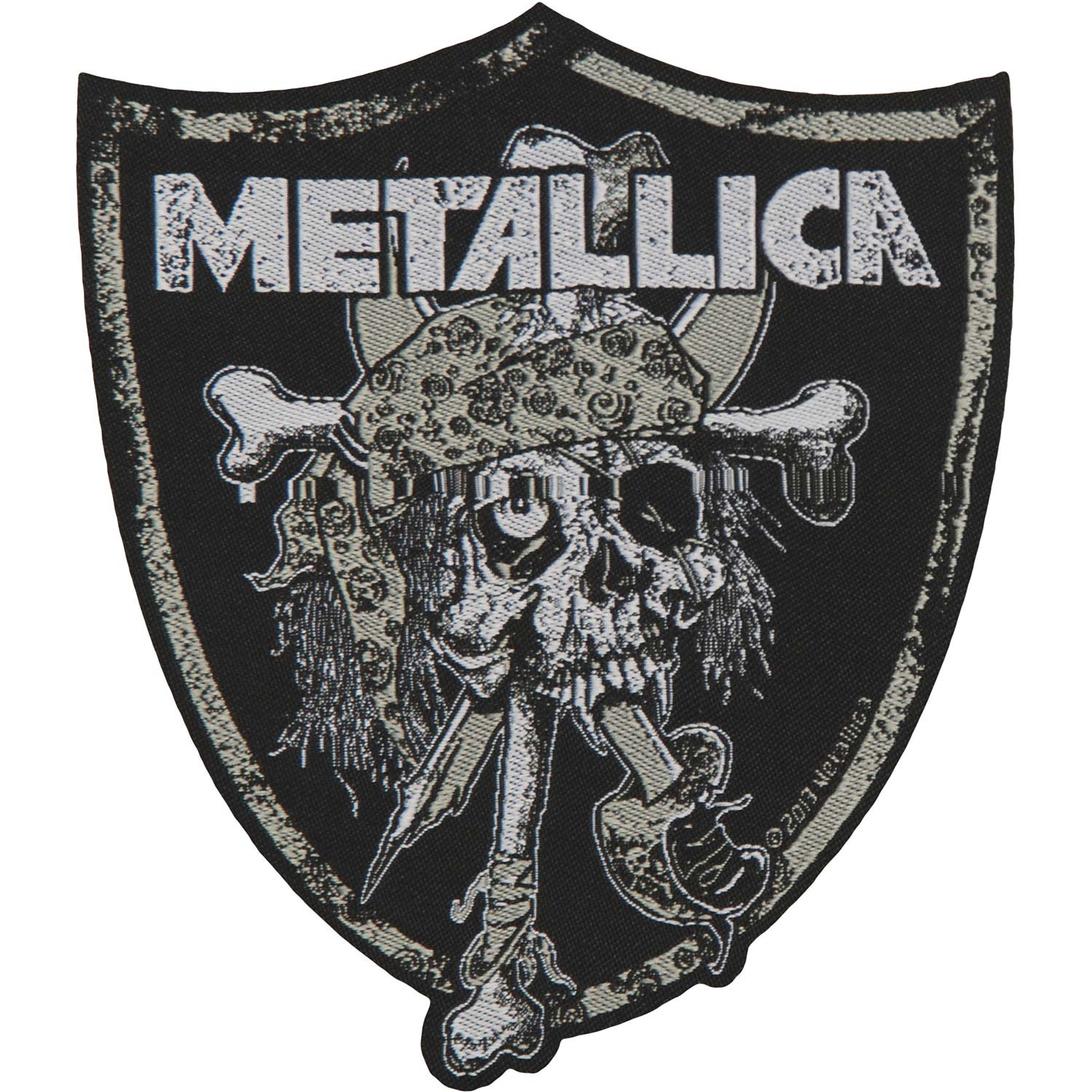 Metallica Raiders Skull Patch Standard ROCK OFF RAZAMATAZ SP2728