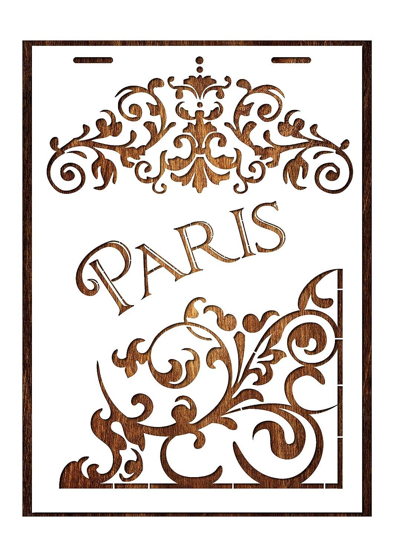 Format A4 21 x 29,7 cm Boutique disacrea Schablone aus Kunststoff Mylar Paris Vintage