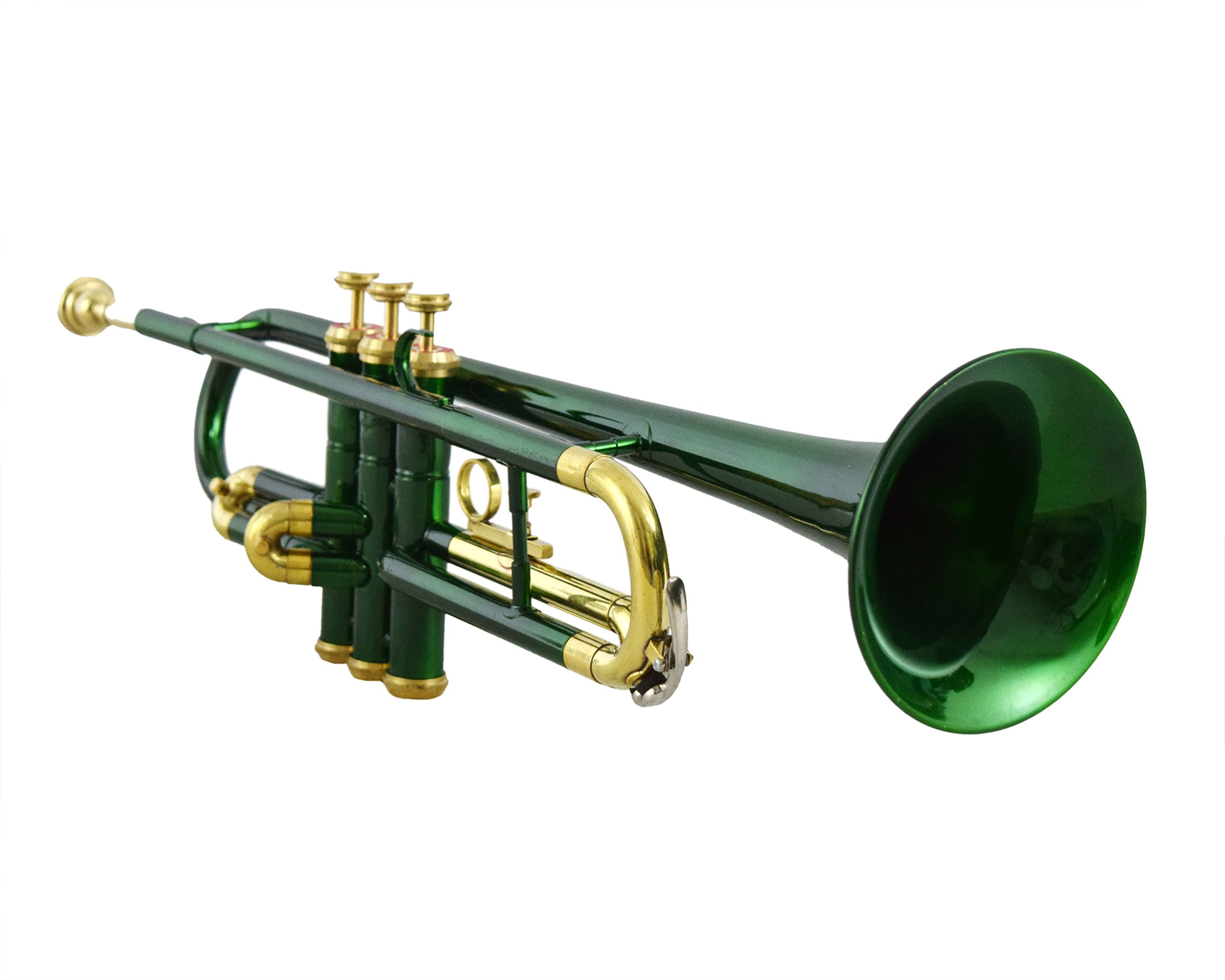 NASIR ALI TRUMPET Bb PITCH DARK GREEN LACQUER FREE HARD CASE & MP