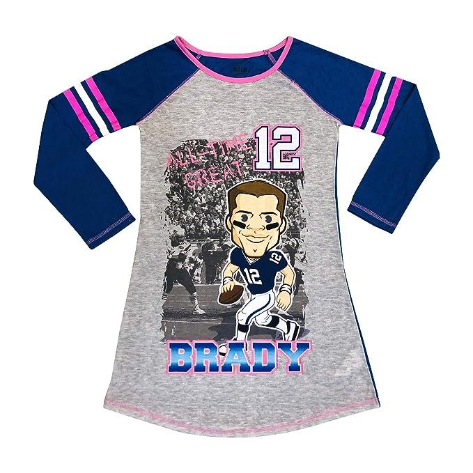 Amazon.com: Tom Brady – Camiseta de manga larga para niñas ...