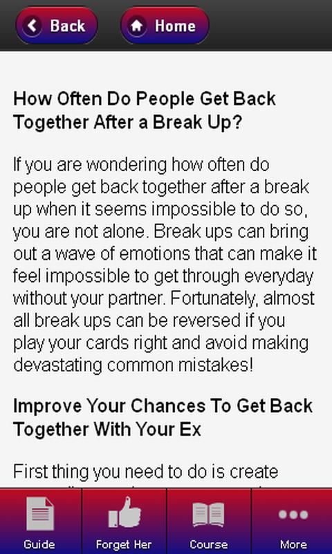 How Often Do People Get Back Together