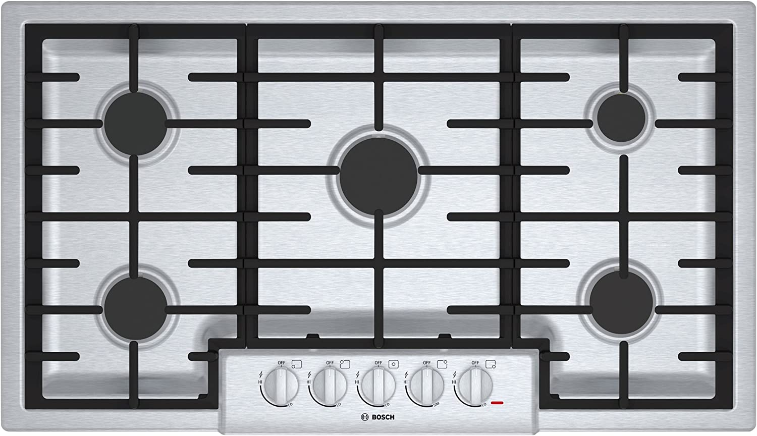 Bosch NGM8655UC 800 36 Stainless Steel Gas Sealed Burner Cooktop