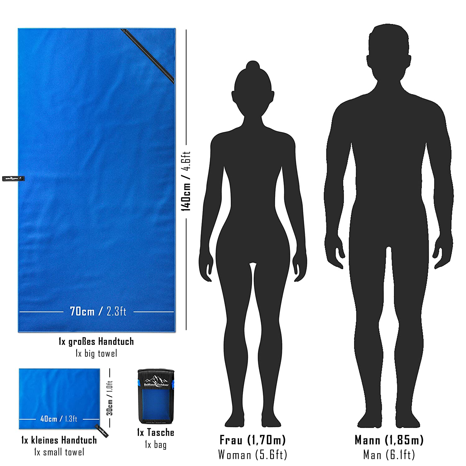 Wondrous Microfibre Towel Set Of 2 Carry Bagbig Small Large For Bath Schematic Wiring Diagrams Amerangerunnerswayorg