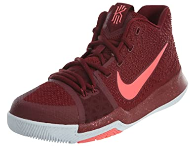 super popular b7671 cb10c Image Unavailable. Image not available for. Color  NIKE Kids Kyrie 3 GS  Warning Basketball Shoes ...