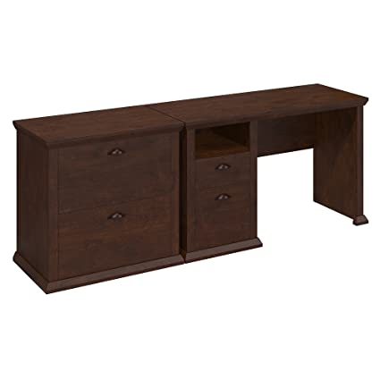 Amazoncom Bush Furniture Yorktown Home Office Desk And Lateral
