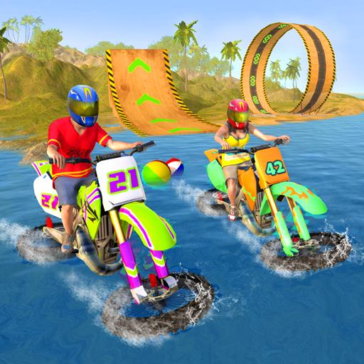 (Motorbike Stunts Water Sports)