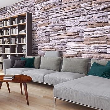 Murando   Fototapete Steinoptik 3D 500x280 Cm   Vlies Tapete  Moderne  Wanddeko   Design Tapete