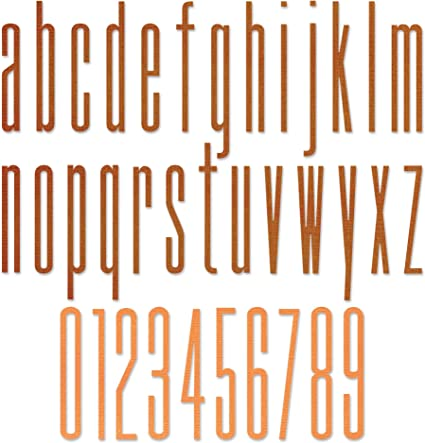 Sizzix Thinlits Die 665207 Alphanumeric Stretch Lower /& Numbers by Tim Holtz 36 Pack