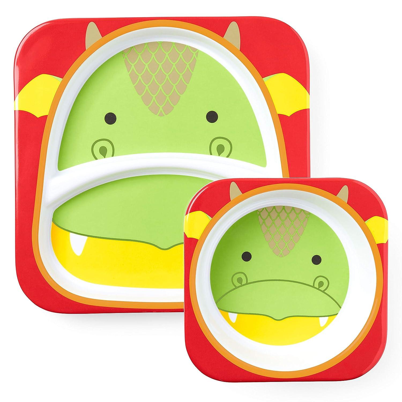 Dragon Melamine Skip Hop Baby Plate /& Bowl Set