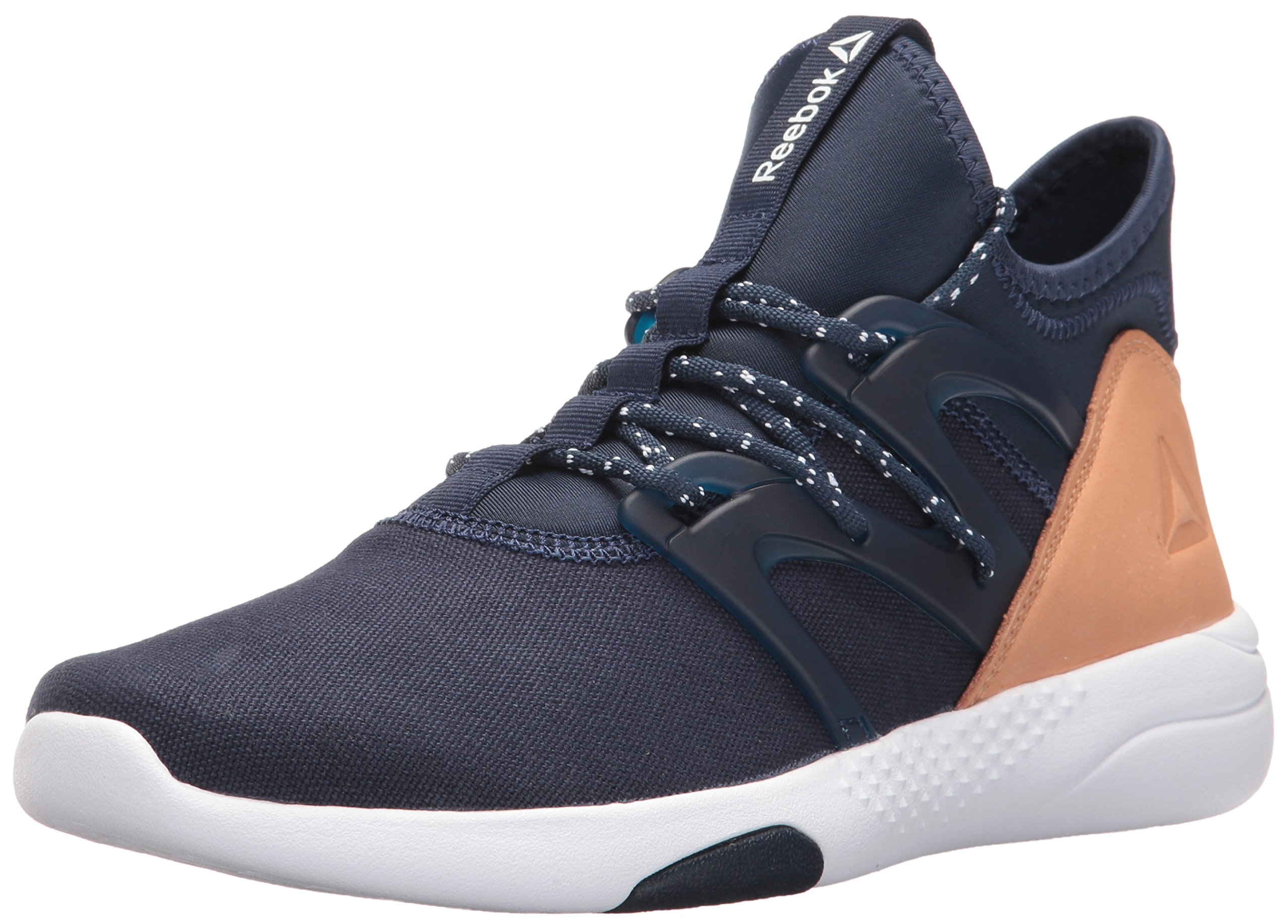 Reebok Women's Hayasu Dance Shoe, Collegiate Navy/White/Veg Tan, 8.5 M US
